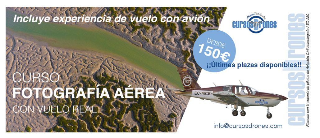 curso fotografía aérea con experiencia de vuelo